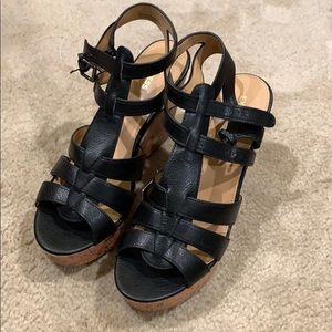 NWT Express Black Wedges - 10